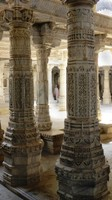 The columns of the Jain Temple