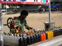 Flavoured ice seller, Juhu Beach, Mumbai