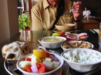 Varanasi_ A restaurant with an Israeli name (Haifa).