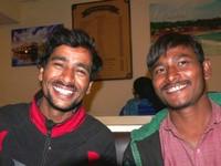 Varanasi_Raju (on the left) with his friend Ramu