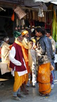 Bateshwar_A hijra in conversation with two locals in the market