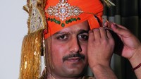 Pintu in his marriage turban