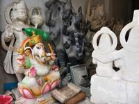 Varanasi_Statues at the marble smoothing shop