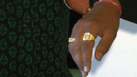 Pintu's engagement and marriage rings