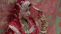 Rajshri poses for photographers
