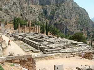 Ancient Site of Delphi at Peloponnese