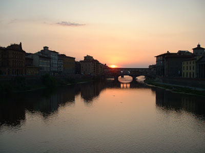 Sunset at Ponte Vecchio in Florence