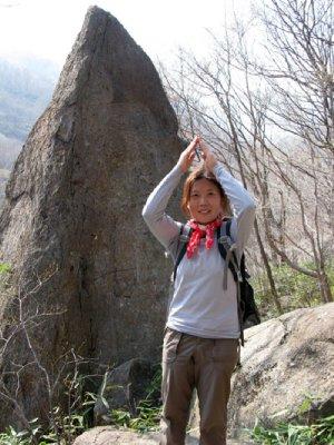 Knife Rock along Jirisan trail