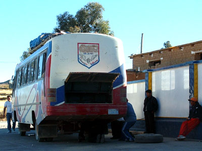Local bus from Villazon to Sucre