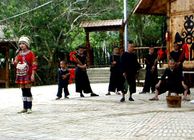 Dance performance by village youths