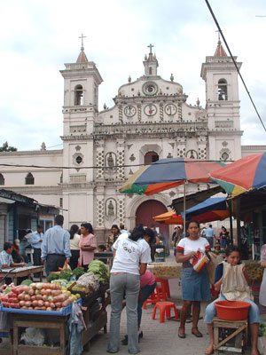 Local market in Tegucigalpa