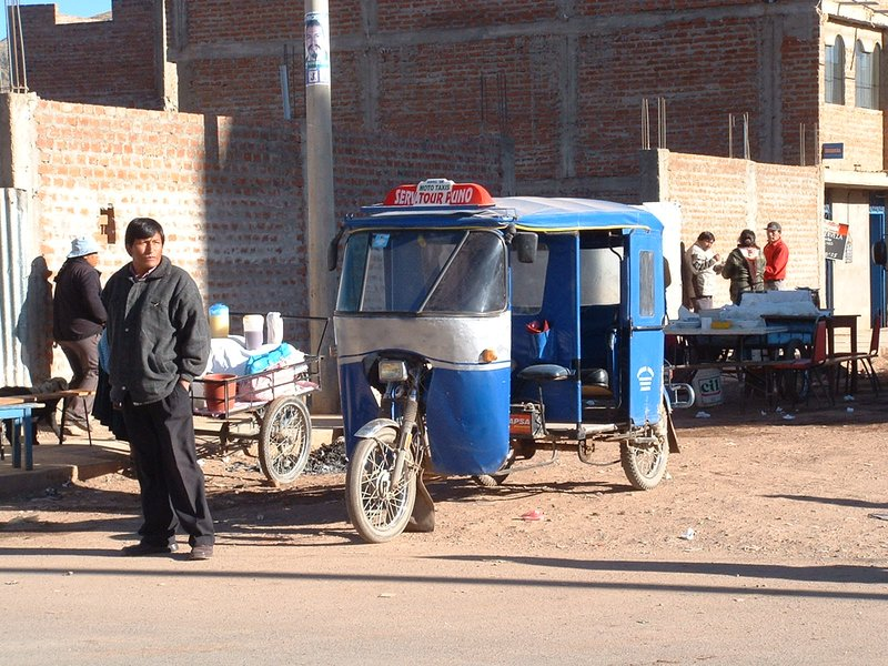 Motor taxi in many small Peruvian towns