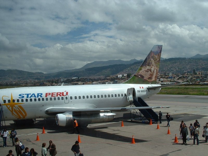 Star Peru aircraft from Lima to Cusco