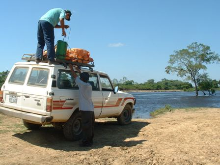 Jeep ride to river Yucama for pampas tour