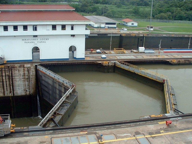 Miraflores Locks from Panama Canal