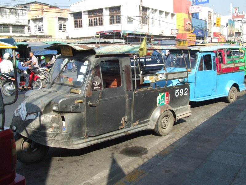 A beatdown tuk tuk in Ayutthaya