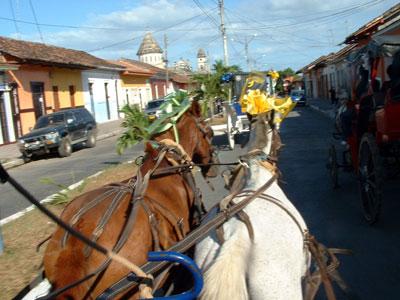 Carriage ride to Lake Nicaragua