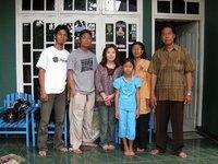 Family of Wayhu in the village of Gajah