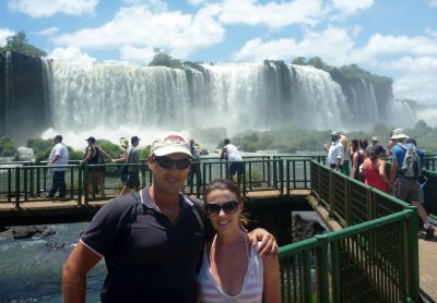 Hanging out at Iguazu Falls!