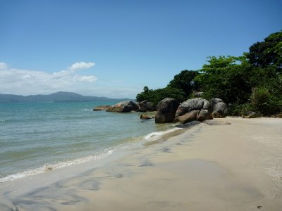 Canasvieiras beach on the north coast of Florianopolis