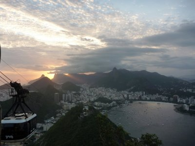 Sun goes down over Rio and its beautiful coastline
