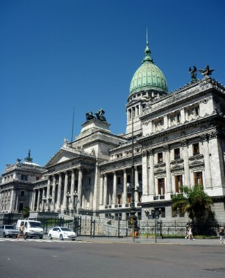 The Congreso Nacional building took 40 years to complete in the early 20th century