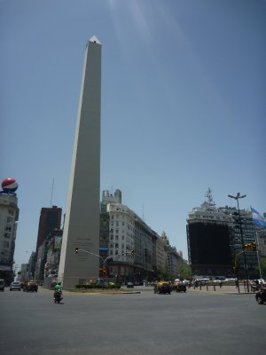 The obelisk marks the centre of the city and sits on Avenido 9 de Julio (9th of July Avenue)