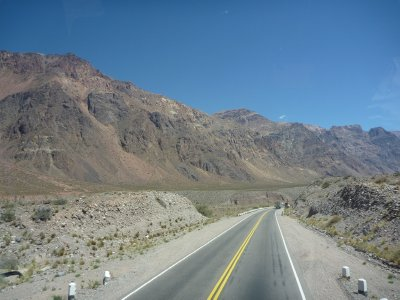 Bus journey through the Andes