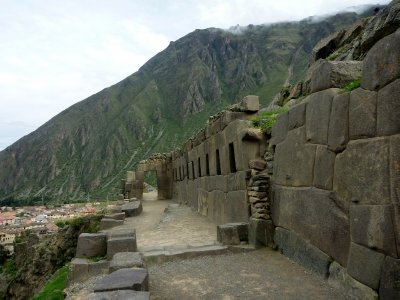 An unfinished Incan sun temple