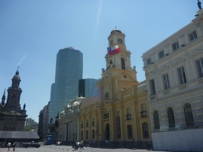 Architecture in Santiago is a blend of old and new
