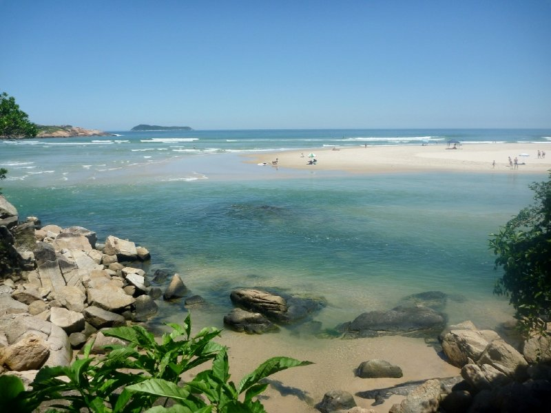 The perfect vista of Guarda do Embaú on Brazil's south east coast