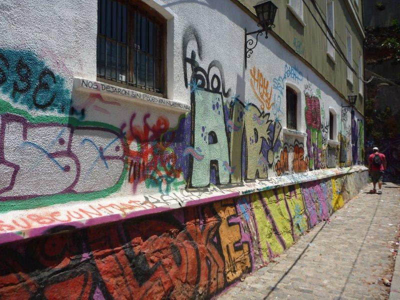 Colourful laneways of Valparaiso