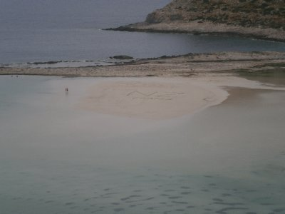 Balos beach (with a big NZ in the sand)