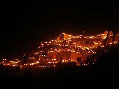 Village of Pyrgos at Easter