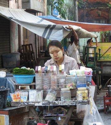 Bettel nut vendor, Yangon