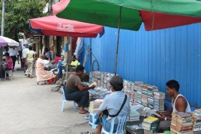 Streetside bookstore, Yangon