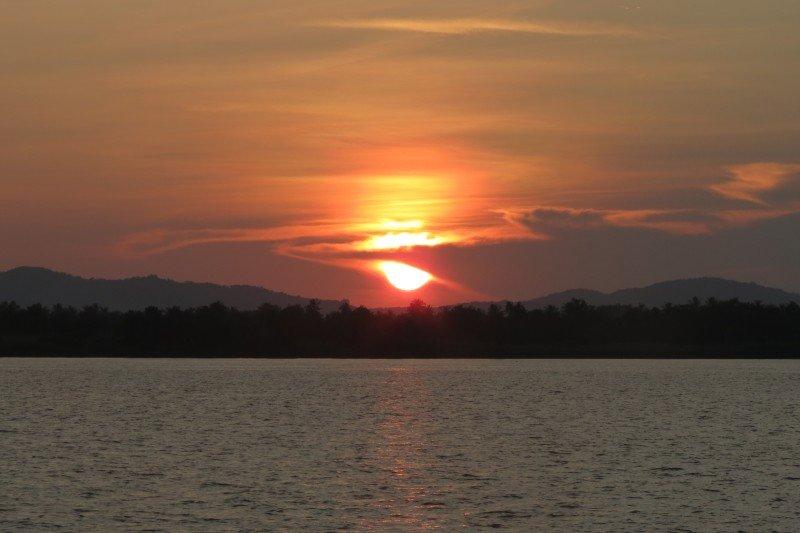 Equatorial sunset