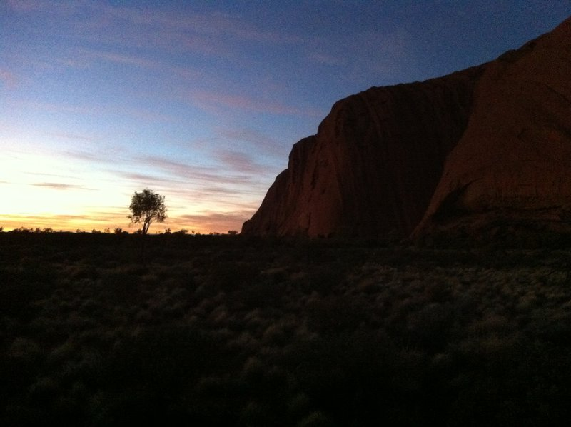 Sunrise near Uluru