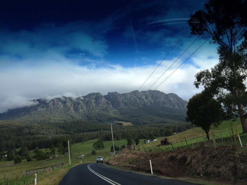 On the road to Cradle Mt.