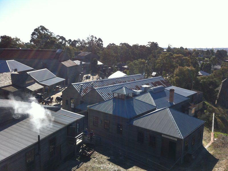 Looking down on Sovereign Hill