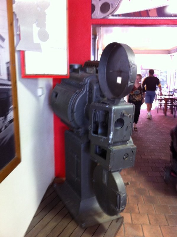 A 35mm projector from Darwin's historic Star Cinema