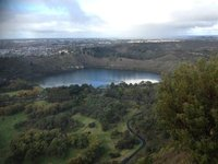 The view from Centennial Tower, Mount Gambier