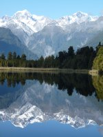 Mount Tasman and Mount Cook, Lake Matheson