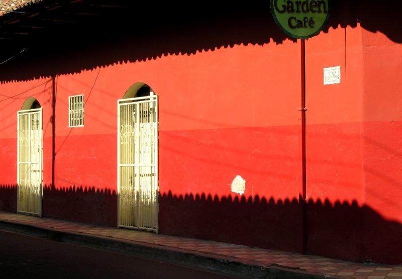 shadows at the wall