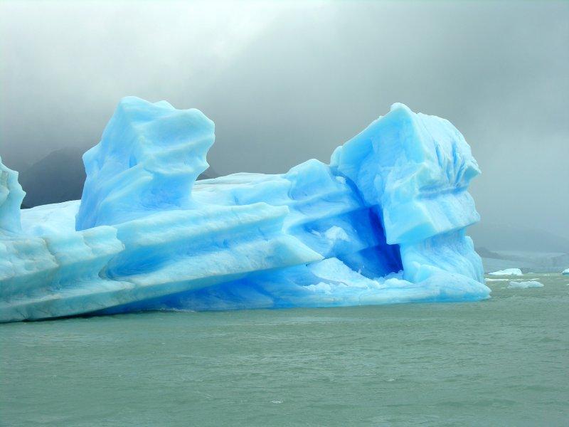 Iceberg floating along