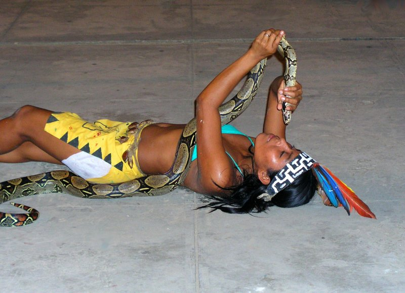 dancing with the Boa
