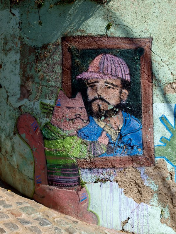 wall painting in Valparaiso