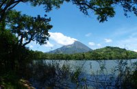 Lagoon Verde and Volcano