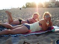 Beach bums at Port Stanley, summer '12!