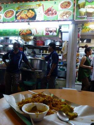 Last meal in Southeast Asia - a fantastic Bryani
